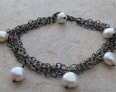 Smoldering Pearl Bracelet and Cascade Earrings - Custom Listing for jennifer