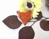 Rustic Red Earthenware Woodland Fox Pin