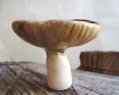 Earthy Brown Woodland Mushroom Porcelain Trinket Dish-MADE TO ORDER
