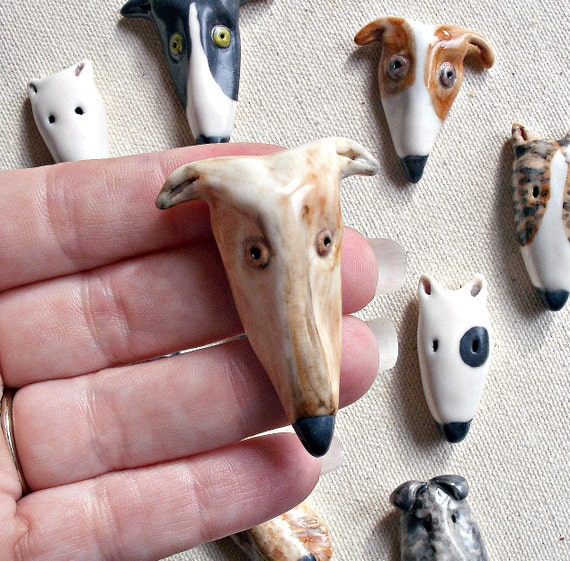 Fawn Greyhound Dog Porcelain Pin, Perfect For Pet Lovers