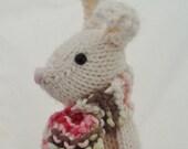 Genevie the bunny in snowy white