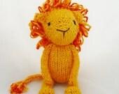 Yarnigans Organics - lion in yellow and orange cotton