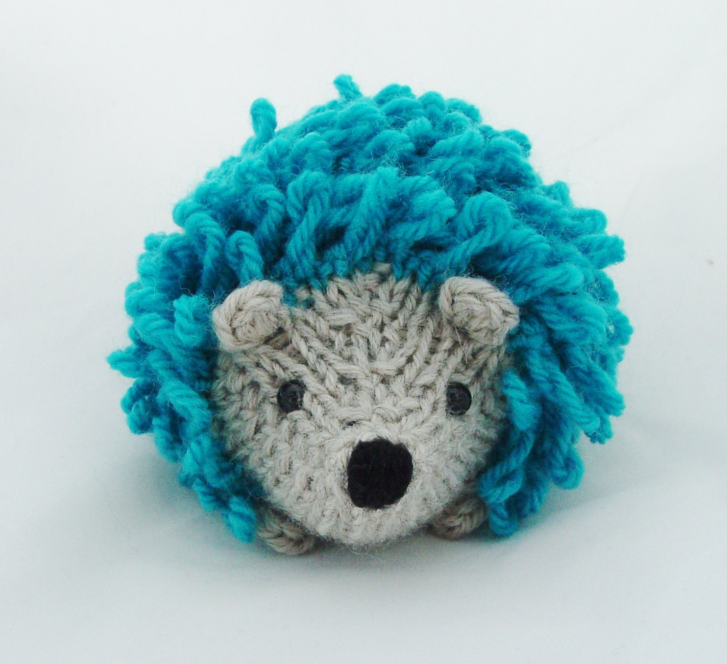 Stuffed Hedgehog Knitting Pattern : Little knitted hedgehog by Yarnigans on Etsy