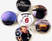 The Prisoner TV show set of 6 - Buttons or Magnets