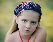HEADSCARF for Girls, headband for baby girls - bebe headscarf in midnight memento