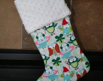 Hoot Owls Christmas Stocking