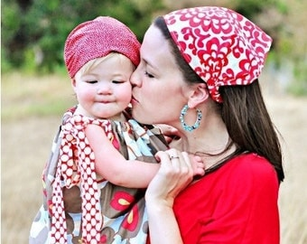 Mother and Daughter Matching Headscarf Set