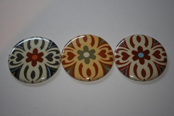 BRIDEMAIDS GIFTS - Amy Butler Lotus Temple Garland Button Mirror Trio