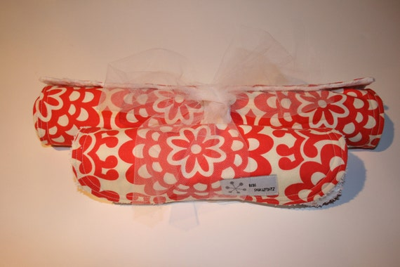 BABY GIFT SET - Amy Butler WallFlower Burp Cloth and Changing Mat Gift Set
