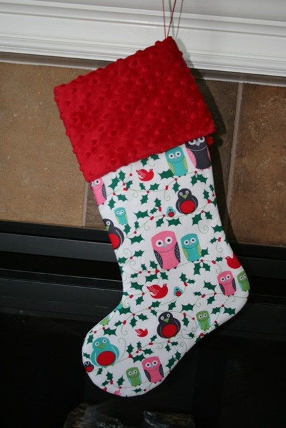 CHRISTMAS Owls Christmas Stocking
