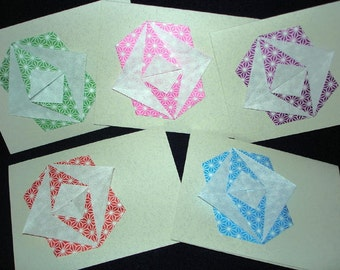 Origami Cards - set of 5