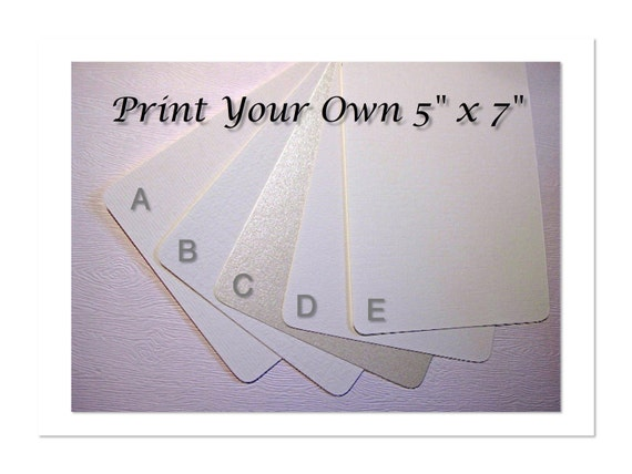 Print Your Own 5x7 Invitations