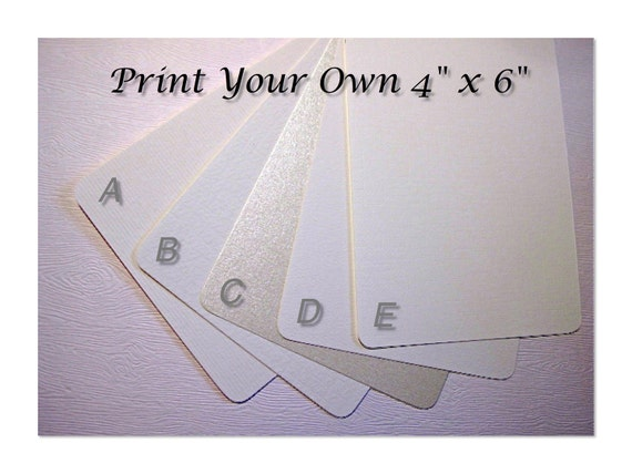 Print Your Own 4x6 Invitations