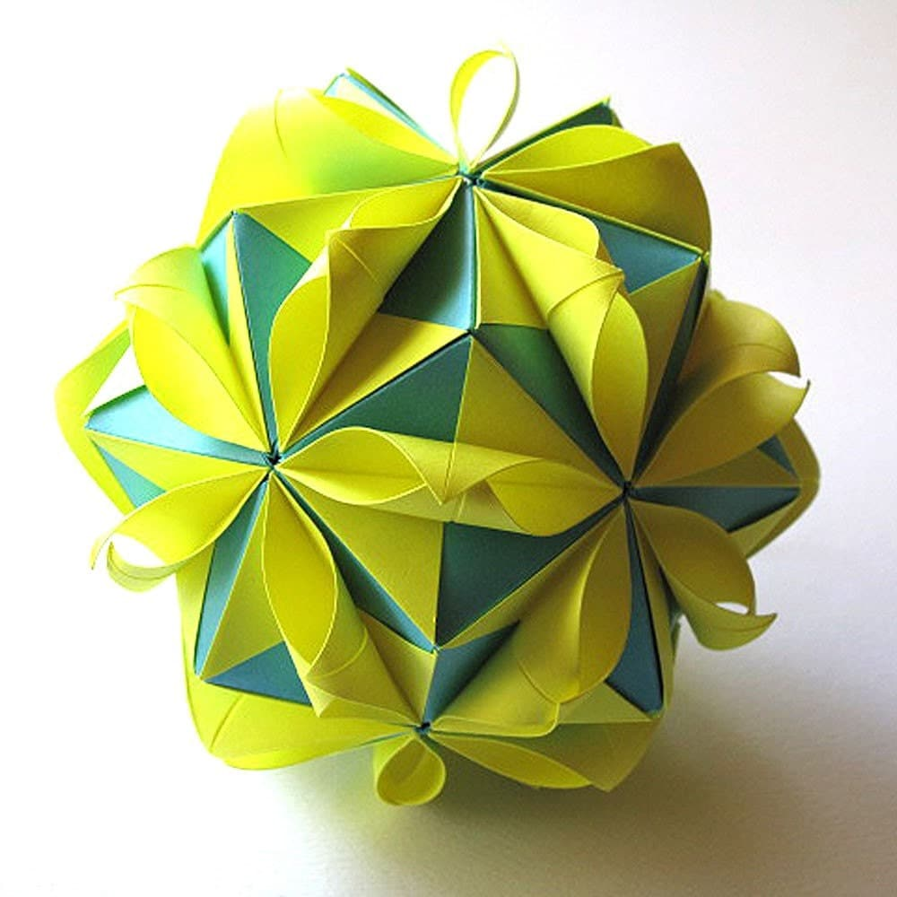 origami flower ball by fanshefolds on etsy