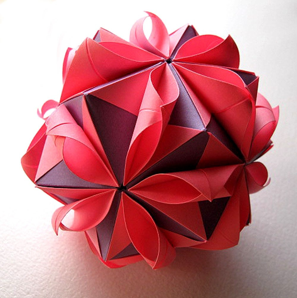 Origami Flower Ball - photo#46
