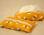 Tissue Holder - Yellow Bee Print