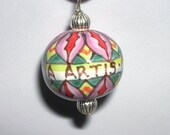 Art for Arts Sake -- Purple Bead Pendant - Etsy Conversation special request