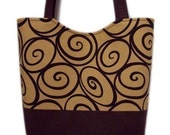 50 PERCENT OFF SALE TODAY  REG 40.00 Butterscotch and Chocolate Ironworks Large Tote Bag by Dees DeeZigns
