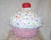 Cherry Sprinkles Cupcake Pinata - MADE TO ORDER