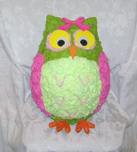 Merry May Owl Pinata - READY TO SHIP