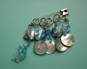 MERMAIDS KNIT TOO Glass and Shell Stitch Markers