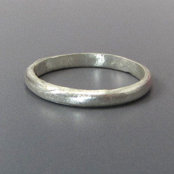 Handcrafted Ring Fine Silver Simple Band