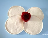4 Organic Reusable Nursing Pads - Eco-friendly gift for new mom - Hemp Organic Cotton Fleece.
