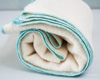 Organic Baby Receiving Blanket -  Hemp Baby Blanket - Eco-friendly Baby Shower Gift - Hemp Organic Cotton Fleece