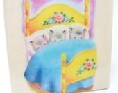 Three Little Kittens Tile Coaster
