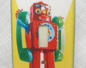 Telephone Robot Light Switch Plate