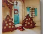 1940s Welcome Christmas Coaster
