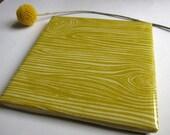 Faux Bois Chartreuse Tile Coaster