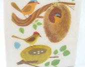 Birds At Home Tile Coaster
