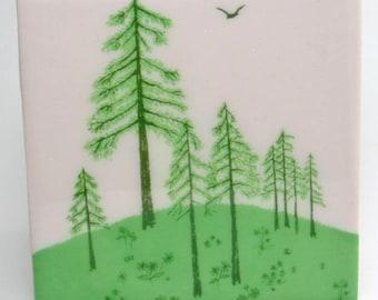 Evergreen Tile Coaster