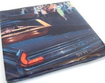 Bonneville Night Life Tile Coaster