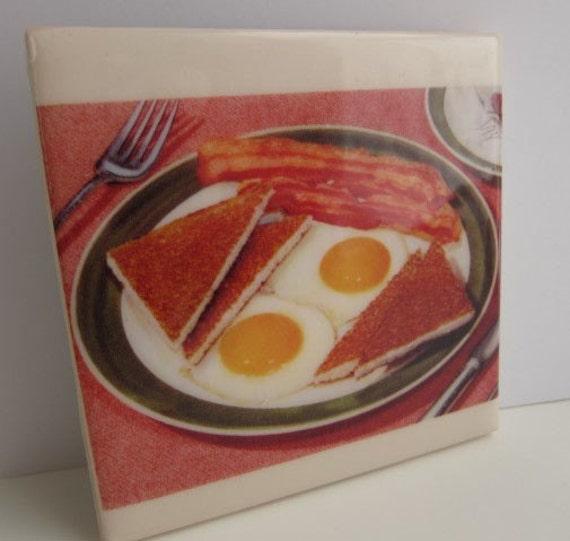 Bacon Eggs and Toast Tile Coaster