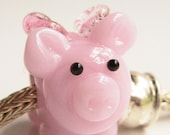 Custom Order..reserved for Debby...Pink Pandora Pig...  Lampwork Glass Bead by StudioMarcy