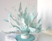 Modern Christmas Holiday Winter Decor - Sea Sculpture 3 - Original Trash Art - Tabletop Mantle Centerpiece
