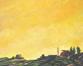 Modern Western Landscape - Original Acrylic Painting - 12x12