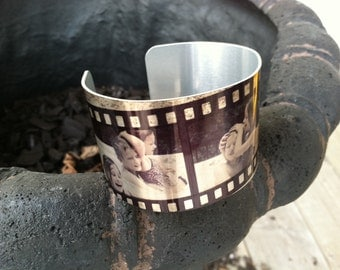 Custom Metal Photo Cuff (or get Filmstrip Design)