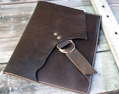 Leather Ipad Sleeve / Case Hand stitched Feral Empire