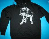 Custom order. Reserved order for xtinemax  - wolf hoodie, 1AEON black unisex Hoodie - size S