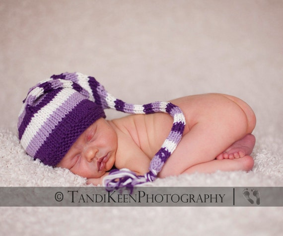 Sweet Baby Hat - Purple People Eater - Newborn to Six Months