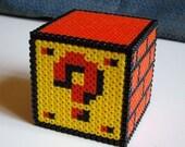Question Mark Block - Nintendo Super Mario Bros Perler Bead Decoration