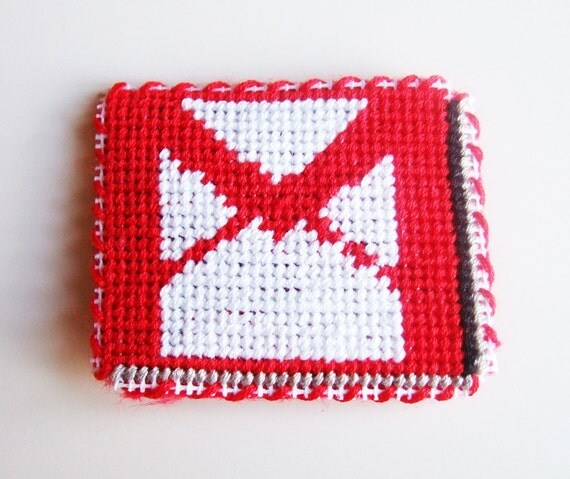 Gmail Google Magnet - Computer Internet Web Needlepoint Stitched Fridge Magnet