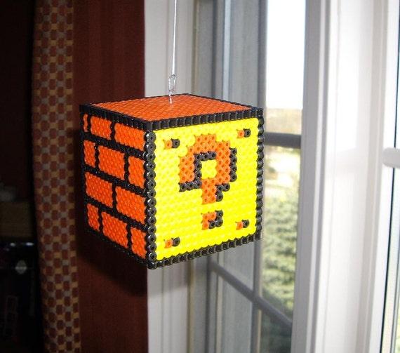 Question Mark Block Nintendo Super Mario Bros Perler Bead