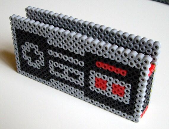 Card Holder - Nintendo NES Controller Perler Bead Business Card Holder