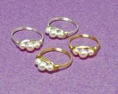Childrens Pearl Rings