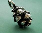 Pine Cone Necklace in Sterling Silver - Hemlock