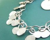 Sterling Silver Chain Bracelet - Hammered Dots